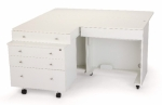 Kangaroo Kabinets Kangaroo Sewing Cabinet with Joey II Three Drawer Storage Cabinet White Drop Ship