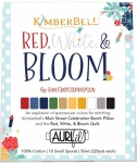 Aurifil - Kimberbell Designs Red, White & Bloom Collection 50wt 10 Small Spools