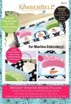 KimberBell Whimsy Winter Bench Pillow CD