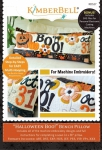 CD - Halloween Boo! Bench Pillow CD Machine Embroidery by KimberBell Designs KD527