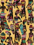 TIMELESS TREASURES - Kenta - African Ladies - Sand