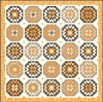 Pumpkins Blossoms Quilt Kit by Fig Tree And Co Moda Precuts