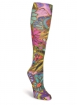 Sock - All Over Floral Knee High by Laurel Burch