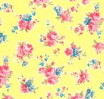 LECIEN - Antique Flower Pastel - Yellow