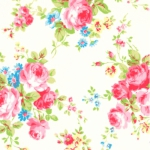 LECIEN - Antique Flower Pastel - White