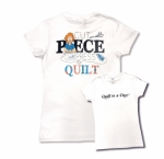 White Large Cut Piece Press & Quilt T-Shirt