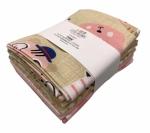 Benartex - Pink Little Friends Fat Quarter Bundle 5 pcs