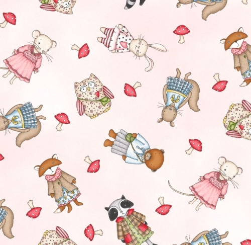 MAYWOOD STUDIO - Forest Friends - Multi - Pink
