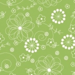 MAYWOOD STUDIO - Kimberbell - Green - Flowers