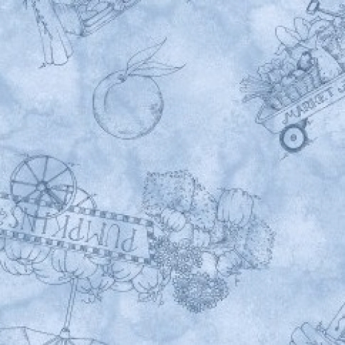 MAYWOOD STUDIO - From The Farm - Toile - Blue