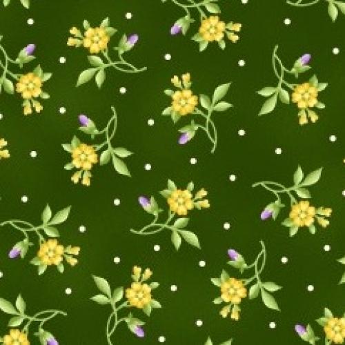 MAYWOOD STUDIO - Emma's Garden - Flowers - Green