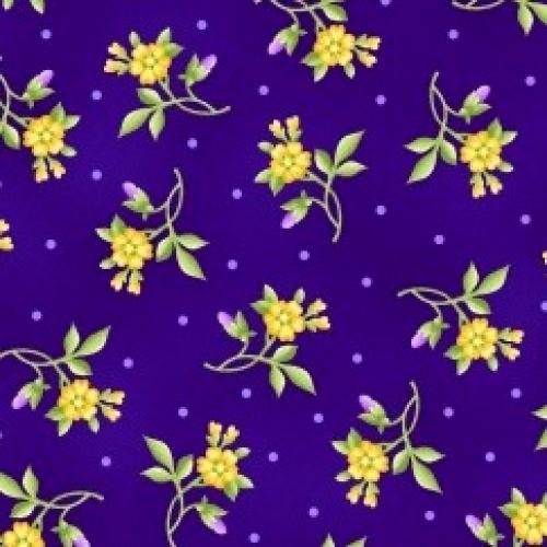 MAYWOOD STUDIO - Emma's Garden - Flowers - Purple