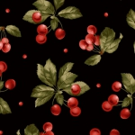 MAYWOOD STUDIO - A Fruitful Life - Cherries - Black - #3186-