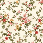MAYWOOD STUDIO - A Fruitful Life - Trailing Flowers - Cream