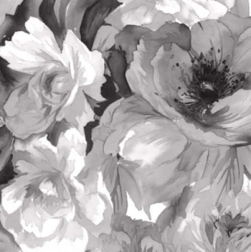MAYWOOD STUDIO - Nocturne - Luscious Flowers Black & White