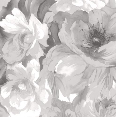 MAYWOOD STUDIO - Nocturne - Luscious Flowers Gray