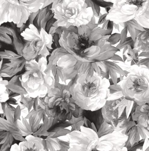 MAYWOOD STUDIO - Nocturne - Flower Bed Black & White