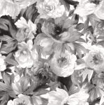 MAYWOOD STUDIO - Nocturne - Flower Bed Black & White