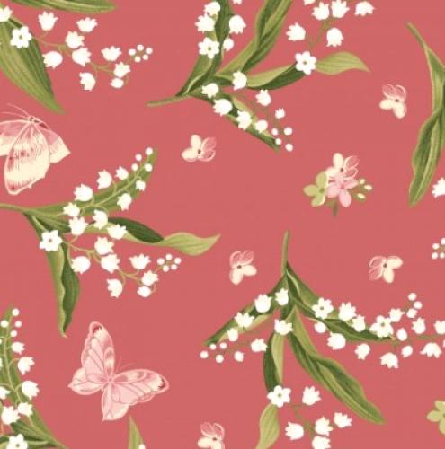 Skinny - SK3036- 1 1/8 yds - MAYWOOD STUDIO - Sensibility - Lilies & Butterflies