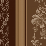 MAYWOOD STUDIO - Ruby by Bonnie Sullivan - Jacquard Texture Stripe - Brown