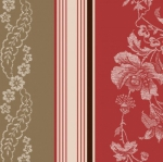MAYWOOD STUDIO - Ruby by Bonnie Sullivan - Jacquard Texture Stripe - Tan/Red