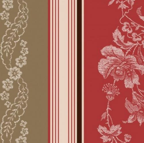 MAYWOOD STUDIO - Ruby by Bonnie Sullivan - Jacquard Texture Stripe - Tan/Red