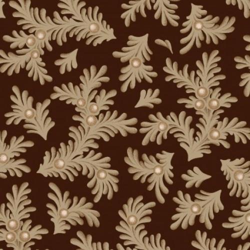 MAYWOOD STUDIO - Ruby by Bonnie Sullivan - Feathered Leaves - Espresso