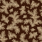MAYWOOD STUDIO - Ruby by Bonnie Sullivan - Feathered Leaves - Espresso