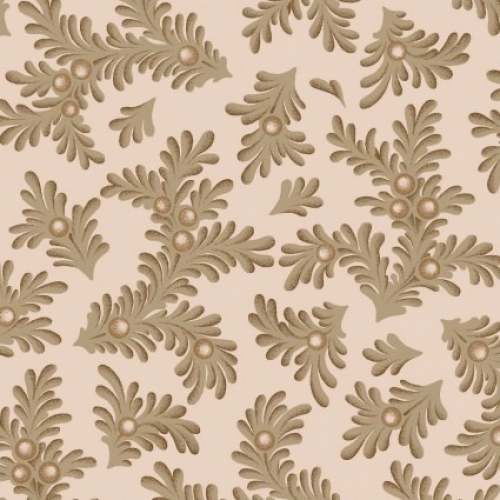 MAYWOOD STUDIO - Ruby by Bonnie Sullivan - Feathered Leaves - Tan