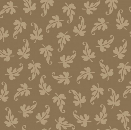 MAYWOOD STUDIO - Ruby by Bonnie Sullivan - Scroll Leaf - Dark Tan