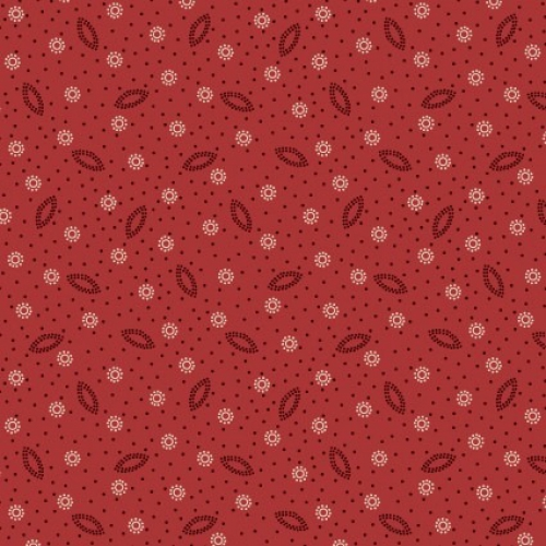 MAYWOOD STUDIO - Ruby by Bonnie Sullivan - Dotted Shirting - Red Brown