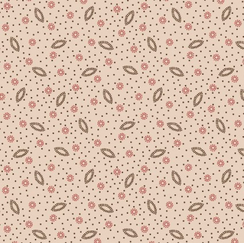 MAYWOOD STUDIO - Ruby by Bonnie Sullivan - Dotted Shirting - Tan Red