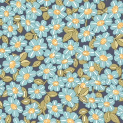 MAYWOOD STUDIO - Sunlit Blooms - Packed Daisy - Navy