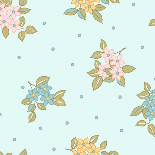 MAYWOOD STUDIO - Sunlit Blooms - Dots And Blooms - Blue
