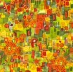 MAYWOOD STUDIO - Quilter's Road Trip - Abstract Orange