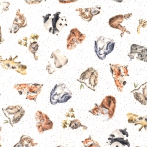 MAYWOOD STUDIO - Love Is... - Tossed Animals Minky
