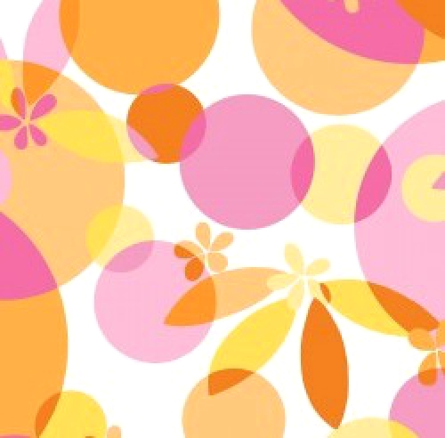 MAYWOOD STUDIO - Good Vibrations - Bubbles and Blossoms - Pink Orange - #2632-
