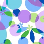 MAYWOOD STUDIO - Good Vibrations - Bubbles and Blossoms - Violet - #2630- Blue