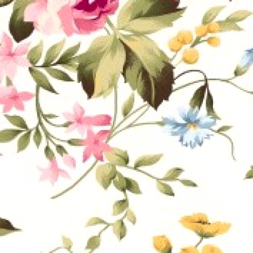 MAYWOOD STUDIO - Wild Rose Flannel - White