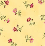 MAYWOOD STUDIO - Wild Rose Flannel - Single Flower - Yellow