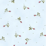 MAYWOOD STUDIO - Wild Rose Flannel - Rosebuds - Blue
