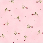 MAYWOOD STUDIO - Wild Rose Flannel - Rosebuds - Pink