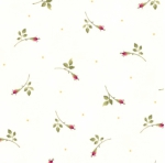 MAYWOOD STUDIO - Wild Rose Flannel - Rosebuds - Winter White