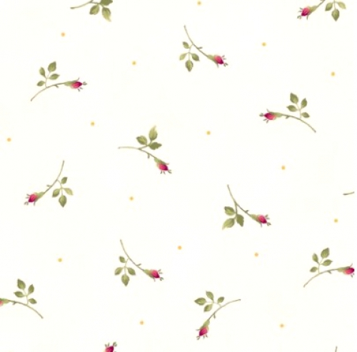 MAYWOOD STUDIO - Wild Rose Flannel - Rosebuds - Winter White