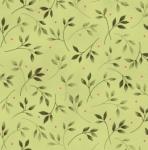 MAYWOOD STUDIO - Wild Rose Flannel - Leaves Green