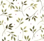 MAYWOOD STUDIO - Wild Rose - Marti Michell - Leaves - Winter - White - FLANNEL
