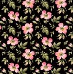 MAYWOOD STUDIO - Wild Rose Flannel - Open Roses - Black