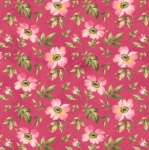 MAYWOOD STUDIO - Wild Rose Flannel - Open Roses - Pink