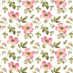 MAYWOOD STUDIO - Wild Rose Flannel - Open Roses - Winter White