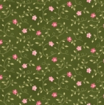 MAYWOOD STUDIO - Wild Rose Flannel - Little Buds - Green